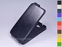 Откидной чехол из натуральной кожи для Asus Zenfone 4 Selfie ZD553KL / Zenfone 4 Selfie Lite ZB553KL