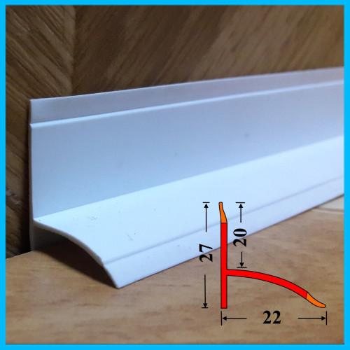 Бордюр на ванну для закрытия щелей, 22х27, 2,0 м Белый