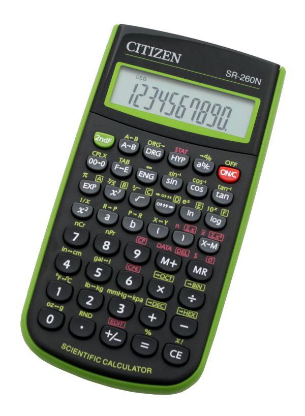 Калькулятор Citizen SR-260NGR научный, 165 формул