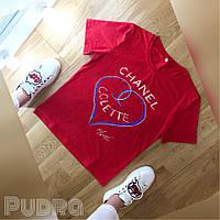 Красная футболка Шанель
