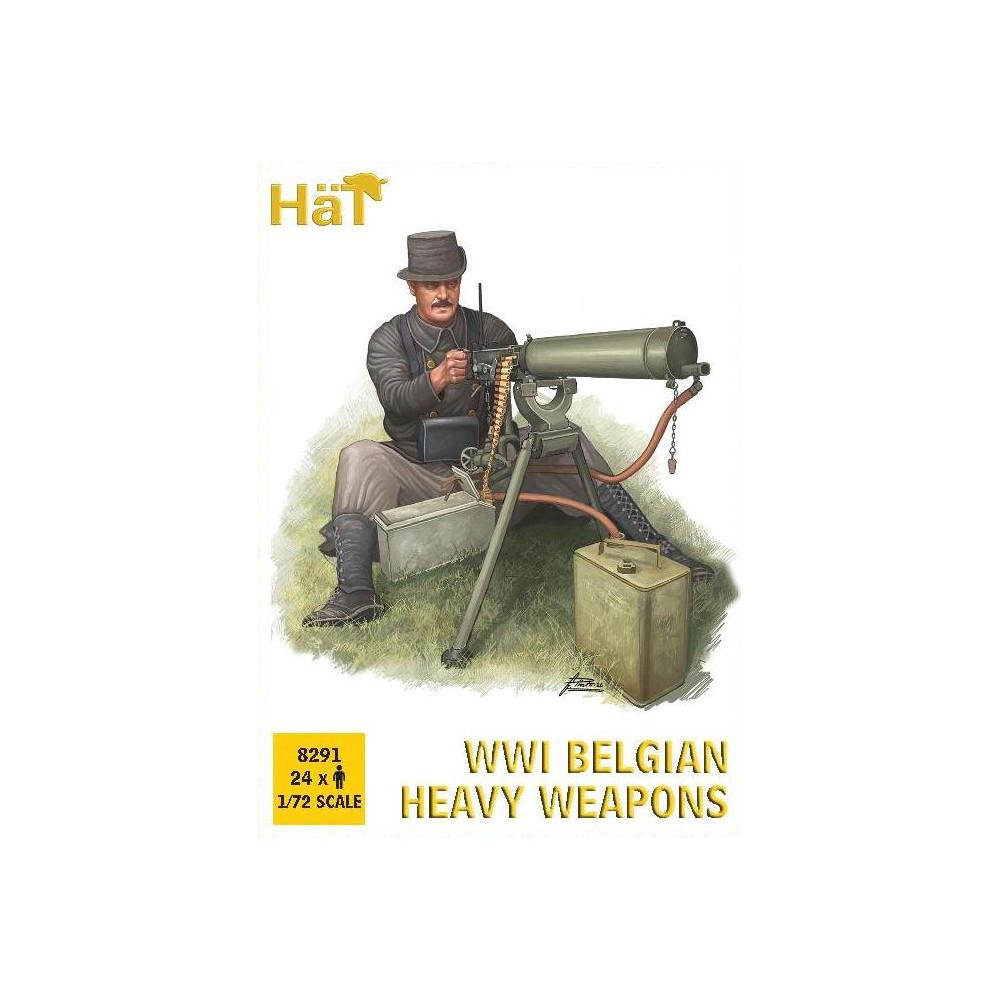 WWI BELGIAN HEAVY WEAPONS. 1/72 HAT 8291