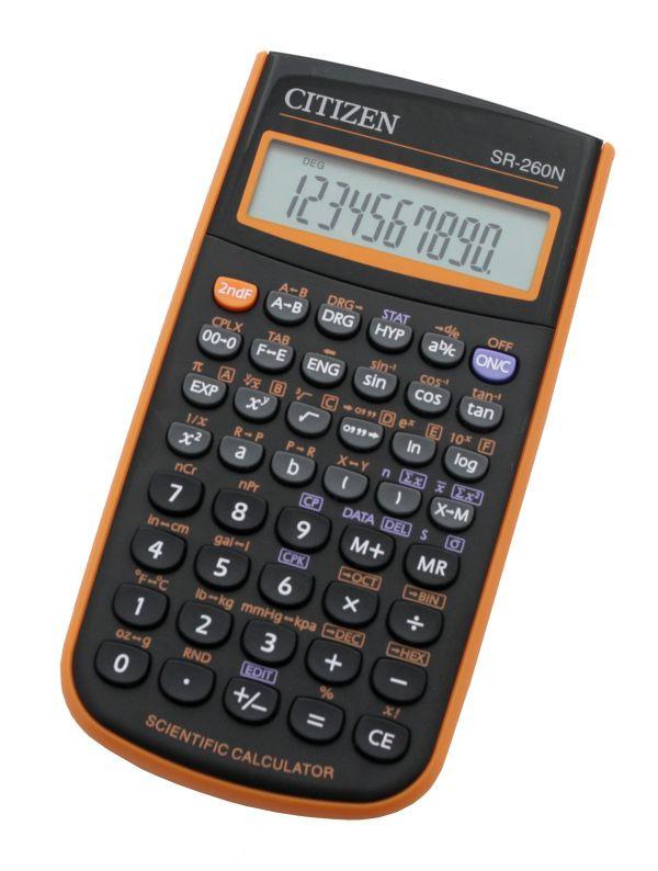 Калькулятор Citizen SR-260NOR научный, 165 формул
