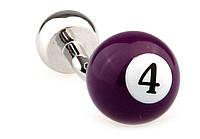 Запонки Бильярдный шар с номером 4  модные и стильные  оригинальный подарок мужчинам , фото 1
