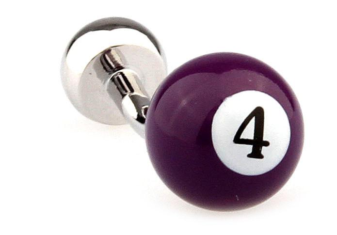 Запонки Бильярдный шар с номером 4  модные и стильные  оригинальный подарок мужчинам