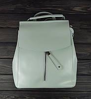 Женский рюкзак мятного цвета на клапане