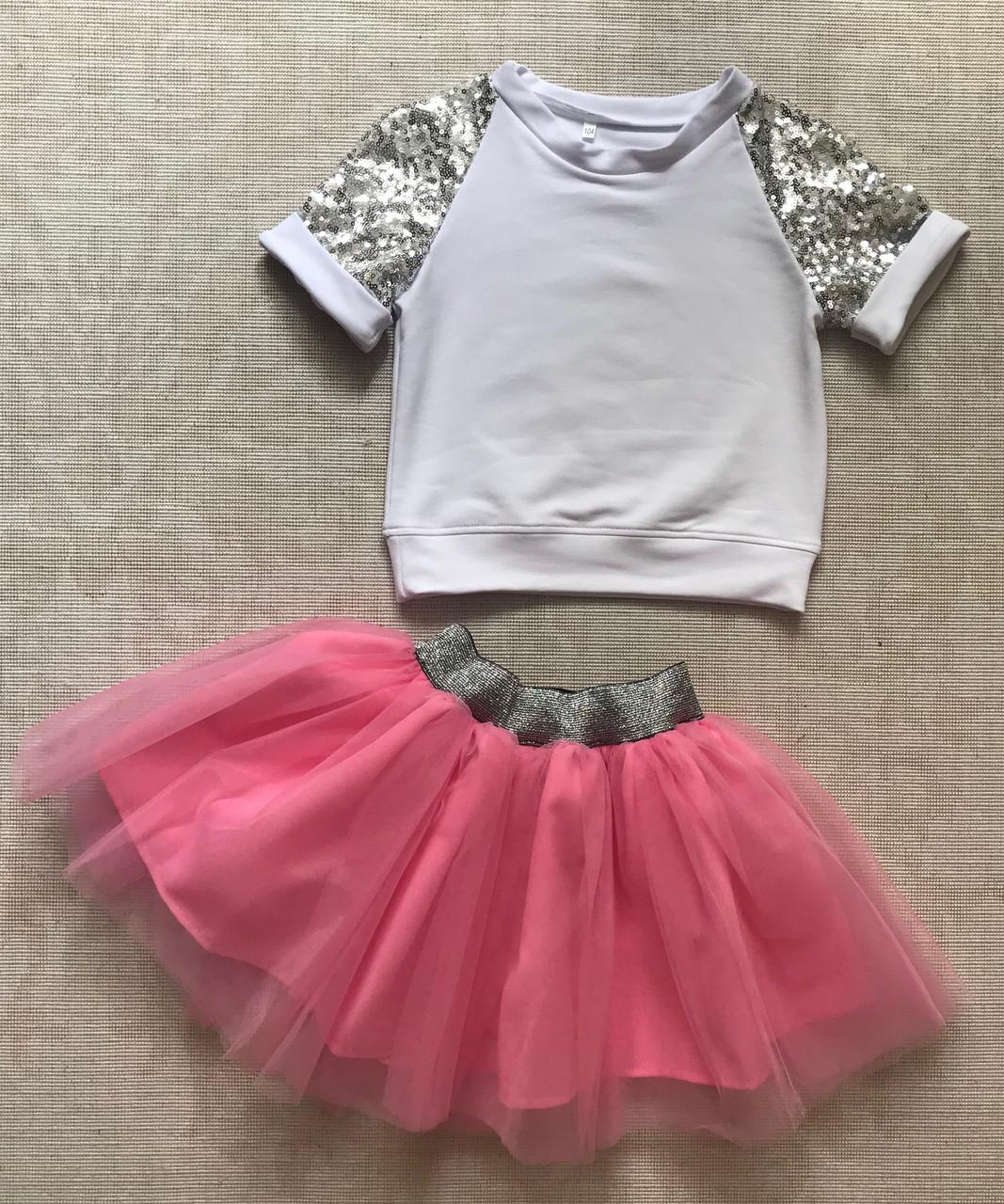 bff3291c096 Комплект футболка и юбка с фатином для девочки 3-6 лет  продажа ...