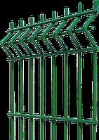 """Секция """"ЕКО КОЛОР"""" 200х50 прутья 3/4 мм 1,21/2,5 м оц+ПВХ (Зелёная)"""
