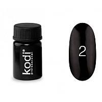 Гель-краска Kodi Professional 02 чёрный, 4 мл