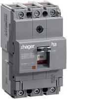 Автоматичний вимикач 160А, 3п, 18kA, Тфикс./Мфикс, Hager HDA160L