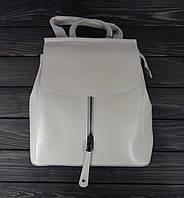 Женский рюкзак бежевого цвета на клапане, фото 1