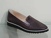 Модные молодежные туфли натуральная кожа сатин, фото 1