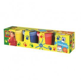 Пальчиковые краски - МОИ ПЕРВЫЕ РИСУНКИ (4 цвета, в пластиковых баночках)