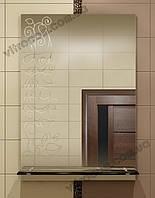 Зеркало zk-5 с контурным рисунком и полкой 70х50 см