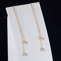 Волшебные серьги с кристаллами Swarovski, покрытые золотом 0805