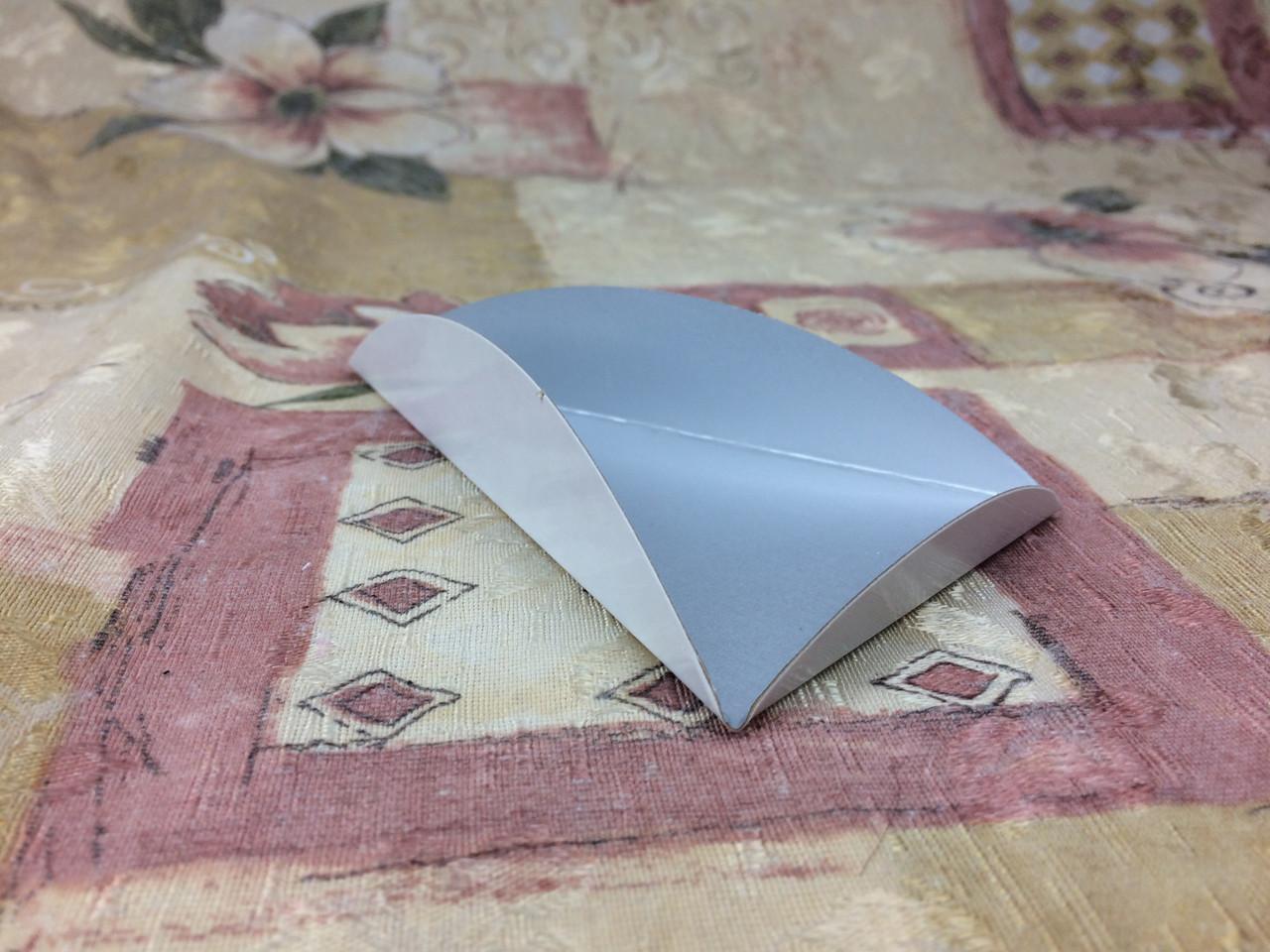 Подложка под пирожное с ушками/треугольник, металик/крафт, 80х135мм/мин 200 шт