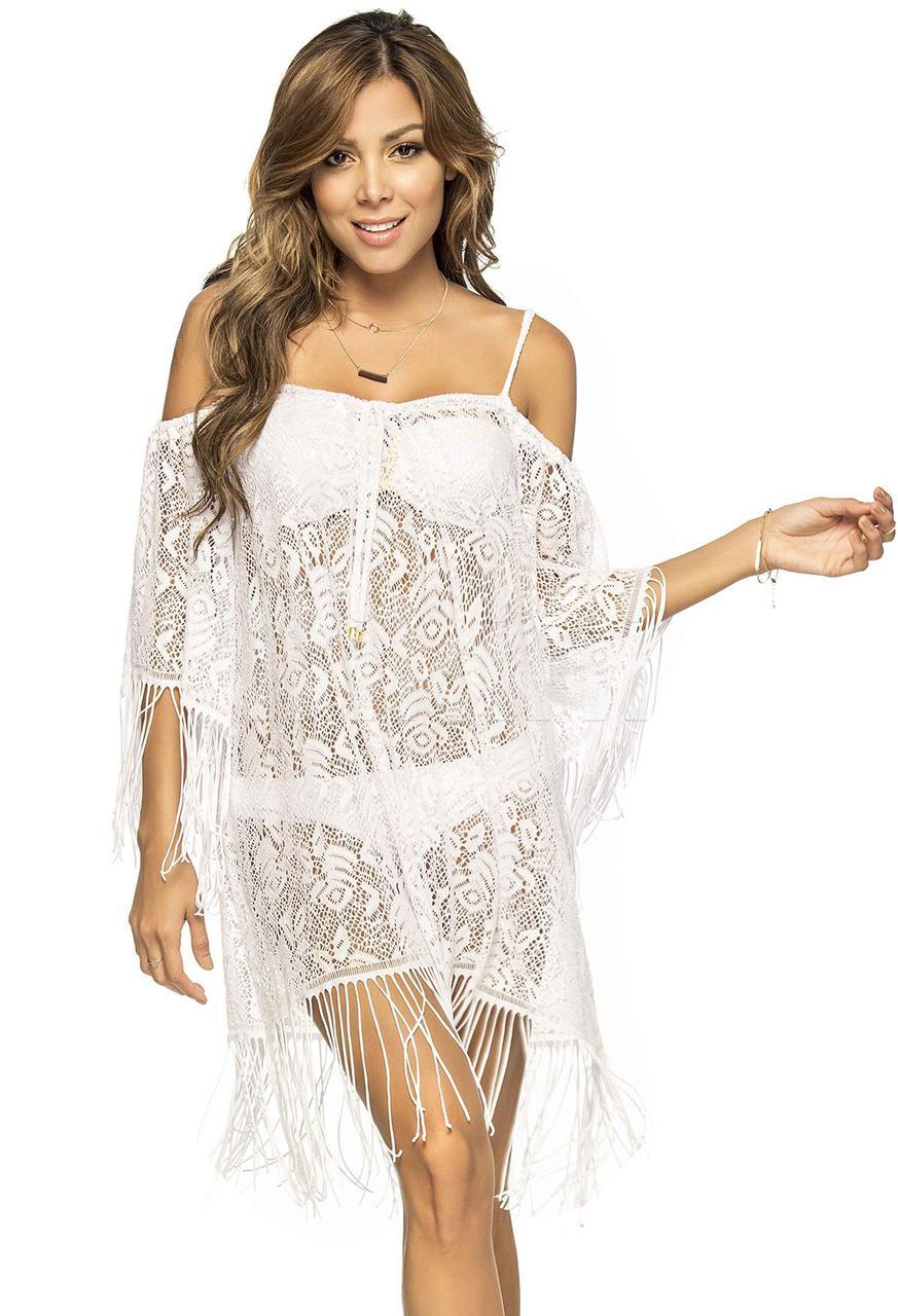 Эксклюзивная белая туника Phax (Колумбия), пляжная одежда