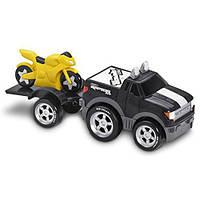 СКИДКА Трейлер с прицепом и мотоциклом Ford F150