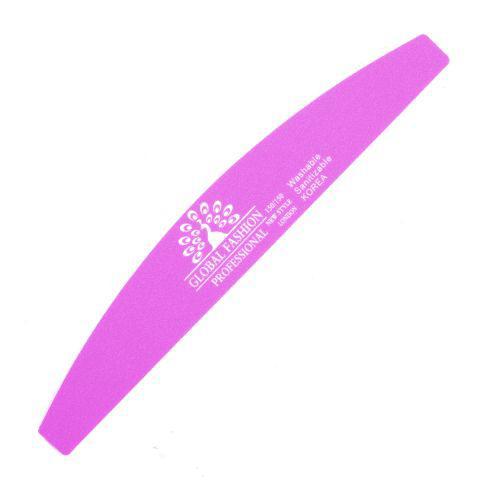Пилочка для ногтей Global Fashion 150*150 грит розовая