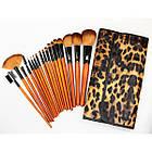 Набор кистей для макияжа 18 шт Make Up Me Леопардовый LEO18, фото 2