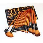 Набор кистей для макияжа 18 шт Make Up Me Леопардовый LEO18, фото 6