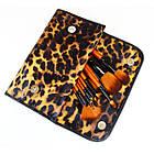 Набор кистей для макияжа 18 шт Make Up Me Леопардовый LEO18, фото 9