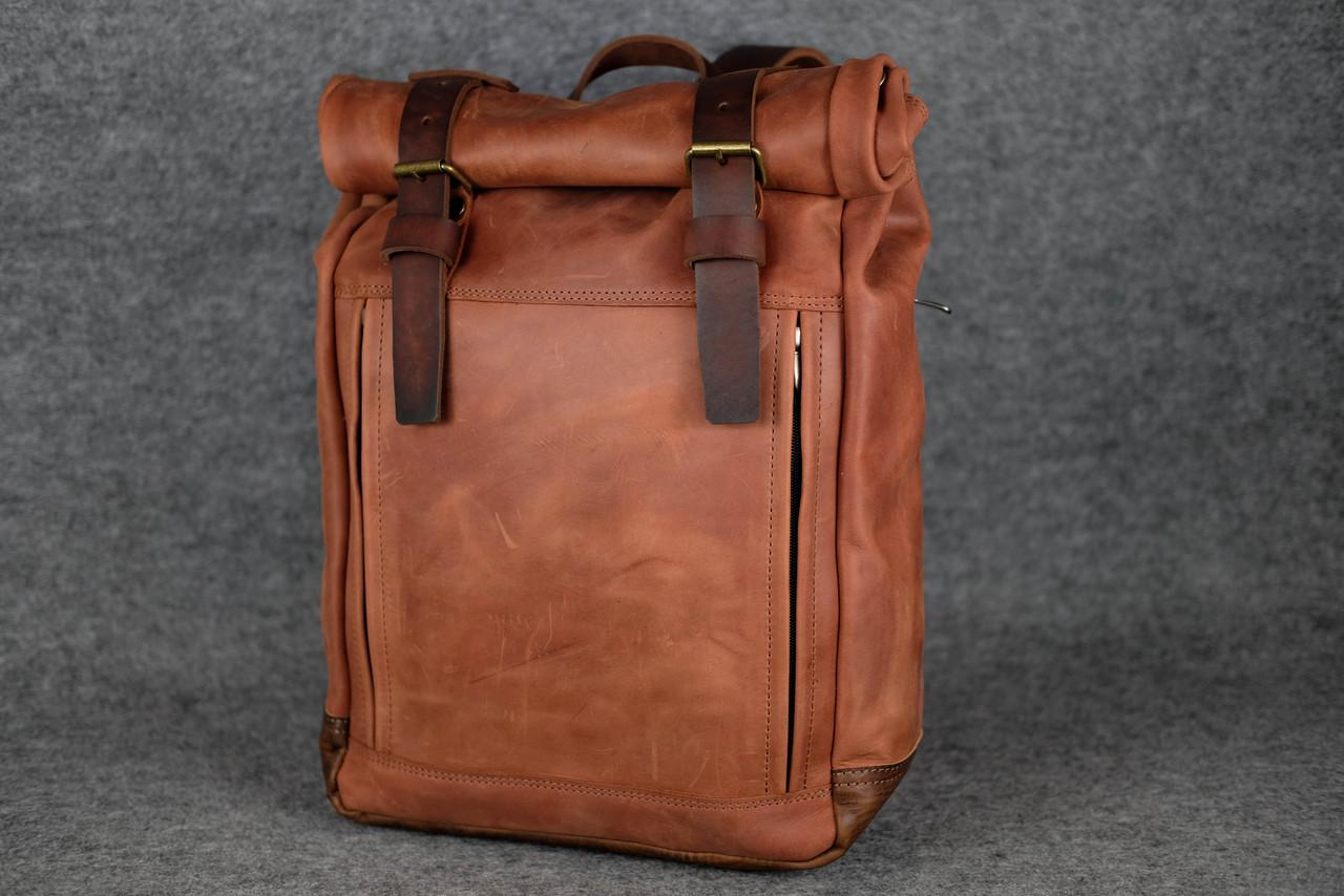 Мужской рюкзак HANKLE H7 |13231| Коньяк+Вишня