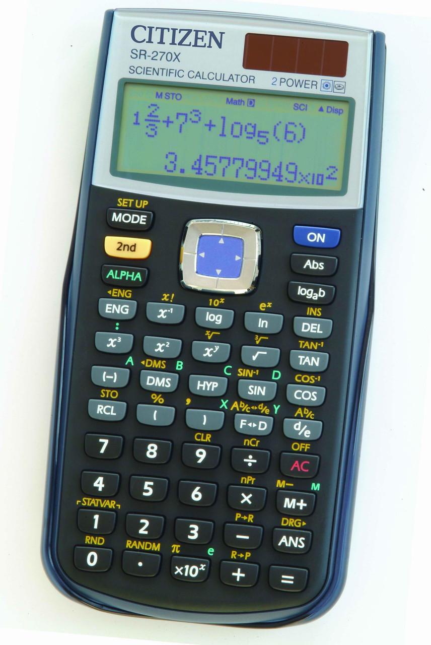 Калькулятор Citizen SR-270X научный, 251 формула, уравнения, 2-х строчный дисплей