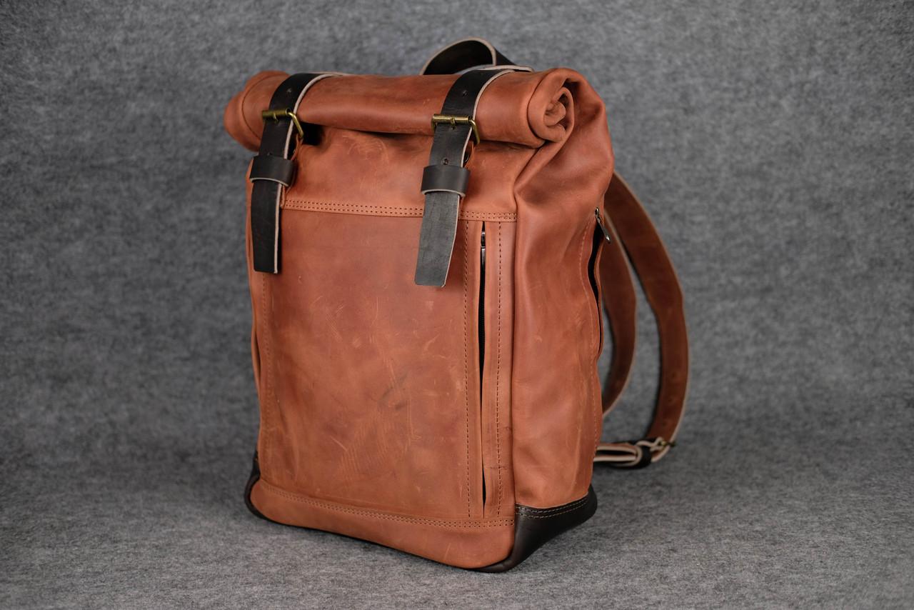 Мужской рюкзак HANKLE H7 |13232| Коньяк+Кофе
