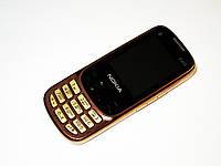 """Телефон Nokia 6303 Золотой - 2Sim - 2,2"""" -FM - BT - Camera - металлический корпус"""