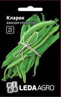 "Семена фасоли Кларон, 20 сем., спаржевой зеленой, ТМ ""ЛедаАгро"""