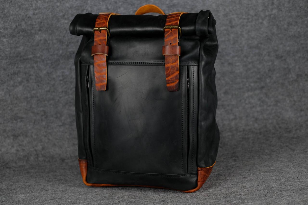 Мужской рюкзак HANKLE H7 |13236| Черный+Коньяк