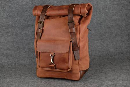 Мужской рюкзак HANKLE H42 |13237| Коньяк+Вишня