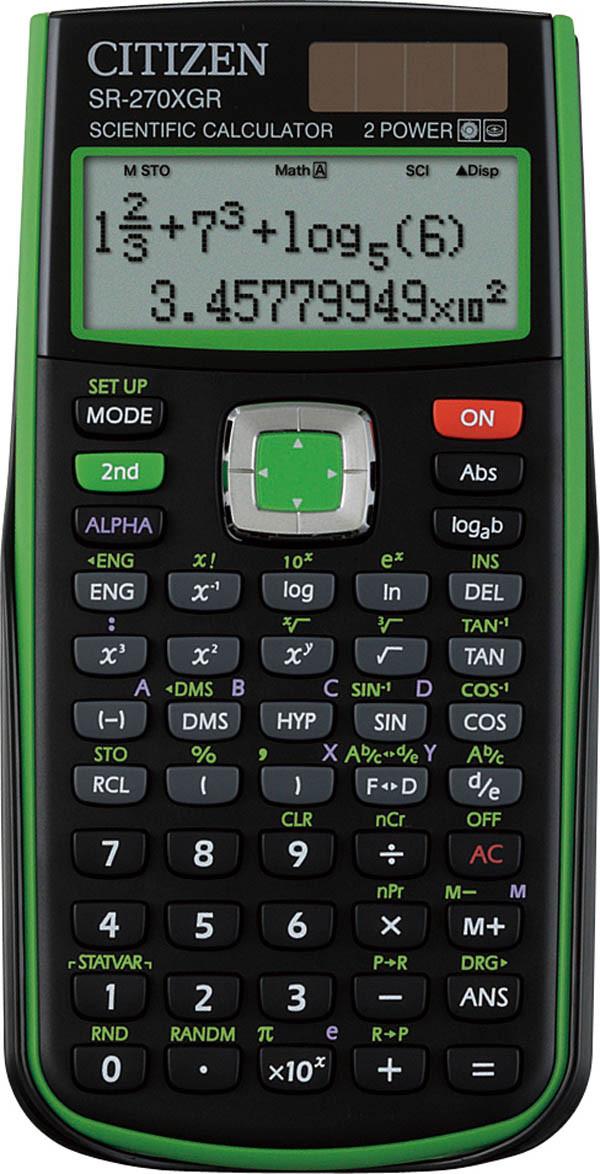Калькулятор Citizen SR-270XGR научный, 251 формула, уравнения, 2-х строчный дисплей