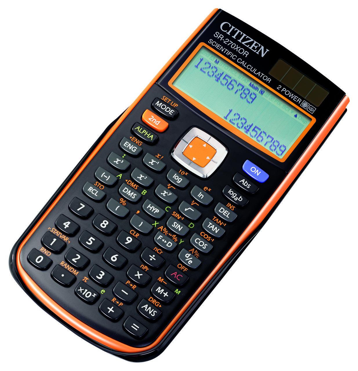 Citizen SR-270XOR калькулятор научный, 251 формула, уравнения, 2-х строчный дисплей