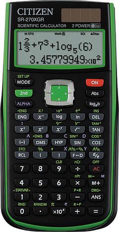 Citizen SR-270XOR калькулятор научный, 251 формула, уравнения, 2-х строчный дисплей, фото 2