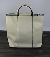 Высокая женская сумка молочного цвета, фото 1