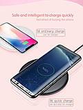 Беспроводное зарядное устройство Baseus Donut Wireless Charger. Розовый, фото 8