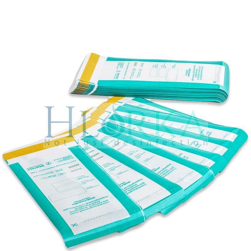 Пакеты 75х150 КОМБИНИРОВАННЫЕ для паровой, воздушной стерилизации самоклеющиеся плоские ПСПВ, 100 шт