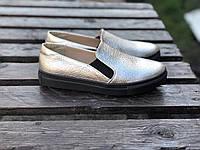 Слипоны №340-13 серебро, фото 1