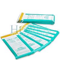 Пакеты 60х100 КОМБИНИРОВАННЫЕ для паровой, воздушной стерилизации самоклеющиеся плоские ПСПВ, 100 шт
