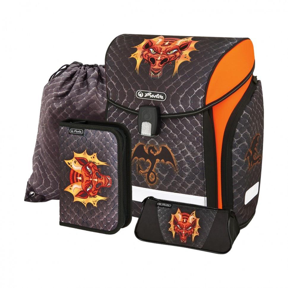 Ранец школьный укомплектованный Herlitz MIDI PLUS Dragon
