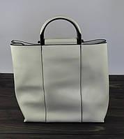 Высокая женская сумка белого цвета, фото 1