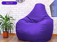 Кресло мешок, бескаркасное кресло груша Standart, мягкий пуфик, бескаркасная мебель, мебель Лофт, Loft, пуф ХЛ 105*85 см, сиреневый 171