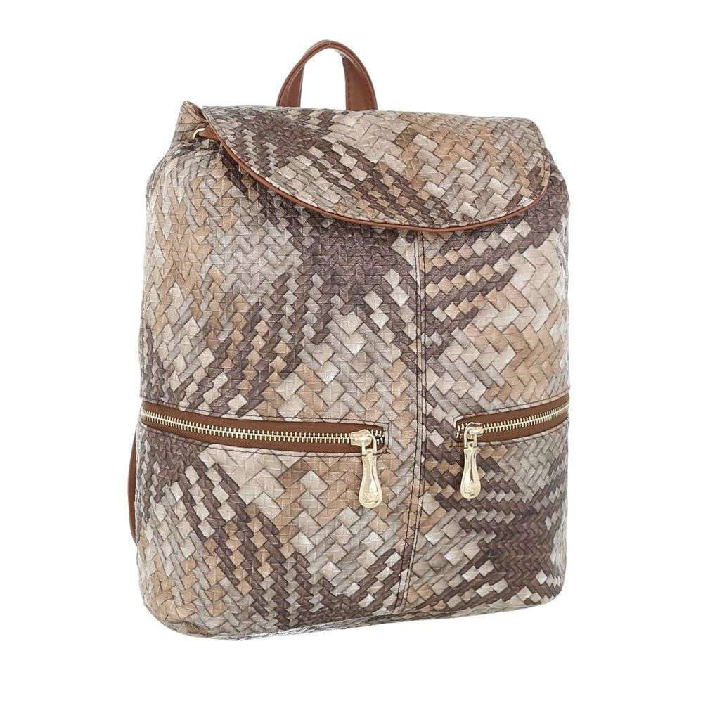 Плетеный рюкзак коричневый бежевый (Европа) купить оптом и в розницу ... 7d992e4fb52