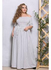 Женское платье в пол Джамалла полоска / размер 48-72
