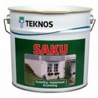 Краска фасадная щелочестойкая Текнос Саку (Teknos Saku) 9 л
