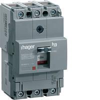 Автоматичний вимикач 160А, 3п, 25kA, Тфикс./Мфикс, Hager HHA160H