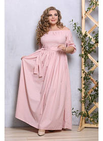 Женское платье в пол Джамалла пудра / размер 48-72