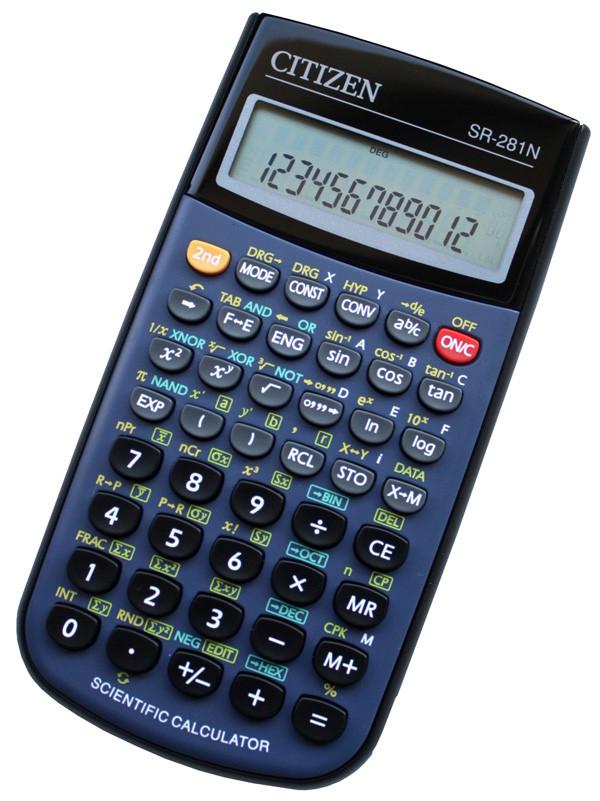 Калькулятор Citizen SR-281N научный, 526 формул