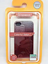 Чехол iPhone 4/4S Glitter + защитная плёнка в подарок